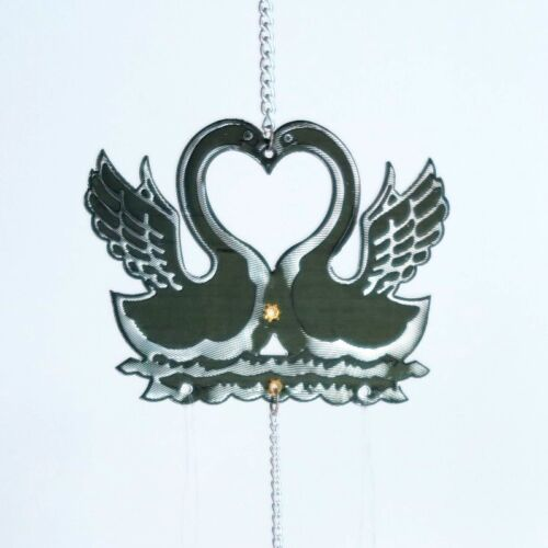 "Black Swan New Metal 24/""L Chinese Lucky Feng Shui Wind Chime"