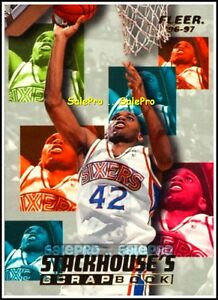 FLEER-1996-JERRY-STACKHOUSE-NBA-PHILADELPHIA-76ers-SCRAPBOOK-INSERT-CARD-S10