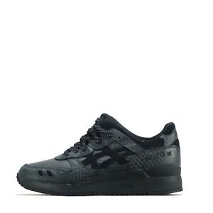 Asics-Gel-Lyte-III-3-De-Sport-Hommes-Chaussures-Baskets-Noir-Noir