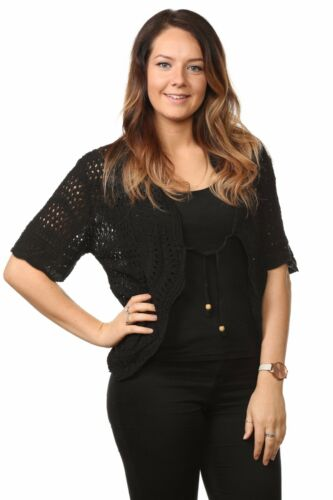 Nouveau Femme Femmes câble tricoté hausser bolero chandail top uk plus SIZE14 à 32