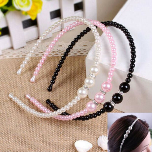 Elegant Rhinestone Pearl Hairband Princess Hearwear Headband Hair Accessories