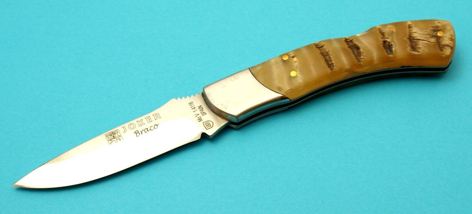 Couteau de poche de Joker Espagne avec Mufflon Poignée coquille coquille coquille décelables nk46 66d068