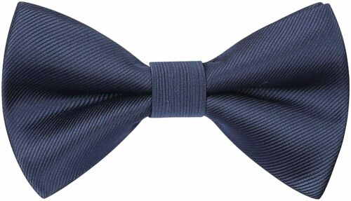 Details about  /HISDERN Men/'s Pre-tied Solid Color Bow Ties Adjustable Classic Woven Bowtie for