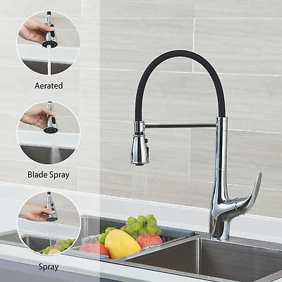 Kitchen Faucet With Pull Out Sprayer Single Handle Kitchen Sink Faucets Chrome Ebay