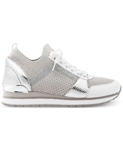 7acbeac64 Michael Kors MK Women's Billie Knit Trainer Fabric Sneakers Shoes ...