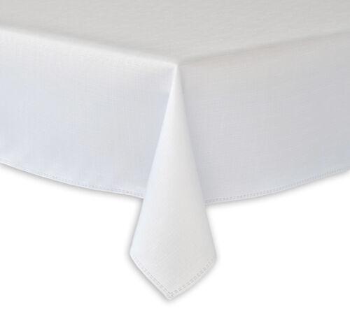 ALLE Größen AKTION klassisches WEIß Tischdecken abwaschbar Fleckschutz