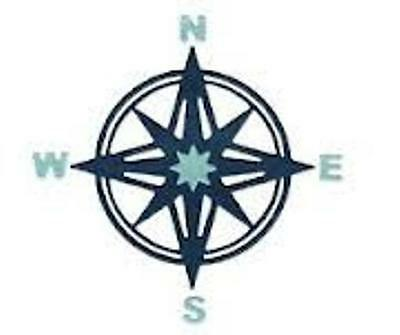 """Lifestyle Crafts DR0324  """"Compass"""" 1 Cutting Die   Size: 3.4""""x3.4"""" DISCONTINUED"""