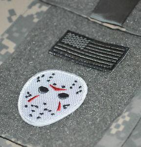 "JSOC jsoc JTF USMC FORCE RECON GHOST SNIPER vêlkrö 2"" 2-TAB: Flag + JASON'S Mask"