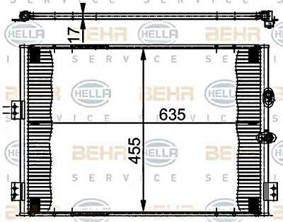 Toyota Hiace III BEHR HELLA Condenser AC Air Conditioning 2.4-2.7L 1995