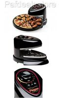 Pizzazz Plus Rotating Oven Tray Countertop Non Stick Baking Pan Cook Meat Fish