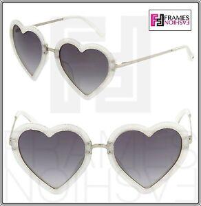 bc80c5cd340 LINDA FARROW MARKUS LUPFER Heart Grey Silver Glitter ML4 Sunglasses ...