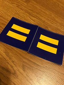 Details About Hrc Sticker Lgbtq Equality Bumper Decal Human Rights Campaign 3 X 3 Pair