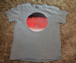 Nike-Luna-Currere-Athletic-Cut-T-Shirt-Men-039-s-Large-Heathered-Gray-Track-amp-Field
