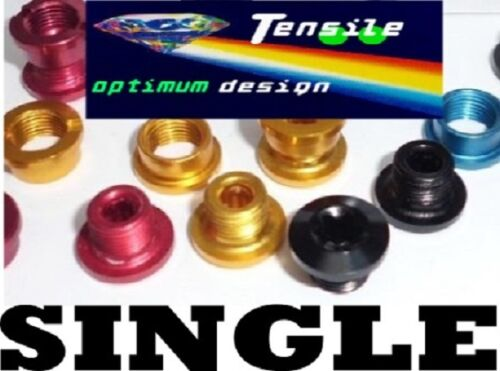 Onza Red Tensile Alloy Chainring Bolts,Set 5 Gold Black SINGLE Blue New