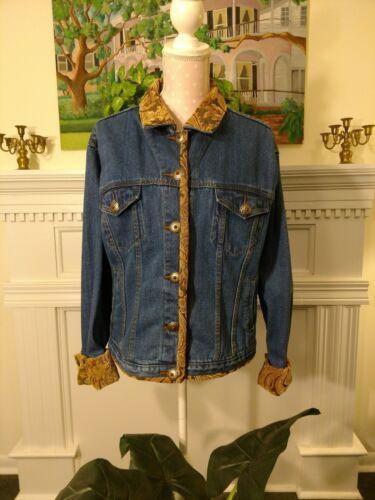 Brocade t Trucker's L Saddleblanket Co denim Taska Trimmed Jacket p Polizzi gH50w0