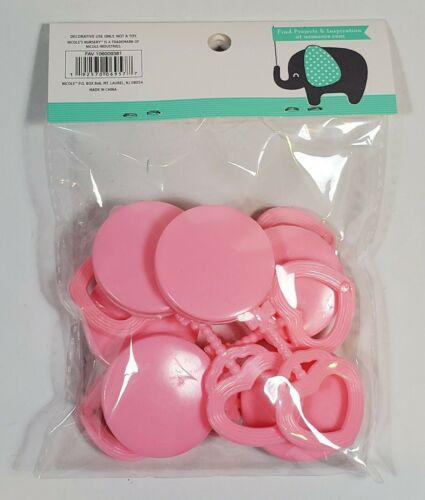 IT/'S A GIRL BABY RATTLE SHOWER PARTY FAVORS GENDER REVEAL LOT OF 24 NEW SEALED