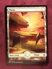 Battle for Zendikar Full Art Land  Plains #252  VO  -  MTG Magic (Mint/NM)