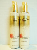 Bath Body Works Japanese Cherry Blossom Flawless Gold 24k Silk Lotion, X 2