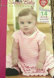 Infant Gifts Booties Blankets Bibs Dress Crochet Pattern Book Crocheted Baby