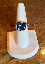 """""""VICTORIA WIECK"""" *ABSOLUTE SIMULATED INDICOLITE TOURMALINE SZ 8 RING GORGEOUS!!"""