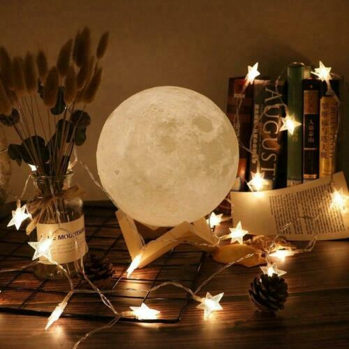 Dad To Daughter Moon Lamp Moon Night Light Warm And Cool White Customized Gift Night Lights Home Garden
