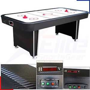 Astonishing Details About 7Ft Twister Full Size Electric Air Hockey Games Table 4 Player Carbon Finish Interior Design Ideas Tzicisoteloinfo