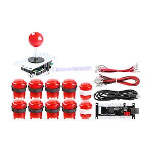 4x Joystick 40x LED Arcade Buttons 4 Player Arcade DIY Parts 4x USB Encoder