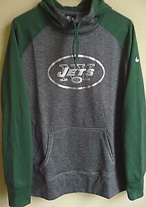 f400ee72 Details about Women's NFL Nike Therma-Fit New York Jets Football Hooded  Sweatshirt XL 610106