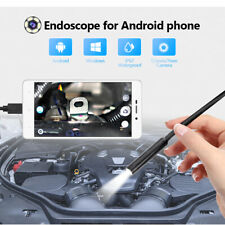 Foliner USB Endoscope Inspection Snake Camera Borescope HD Borescope Waterproof Semi-rigid Cable Snake Camera Waterproof Inspection HD Camera for Smartphone