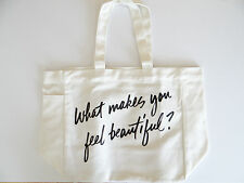 """Bareminerals tote cotton bag """"What makes you feel beautiful?"""" New 6''x12''x12''"""