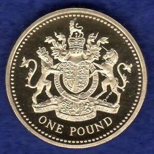 La Grande-bretagne, 1993 Proof £ 1, Une Livre Pièce, Armoiries Royales (ref. T1630)-afficher Le Titre D'origine Vxz0cmen-08003526-802619942