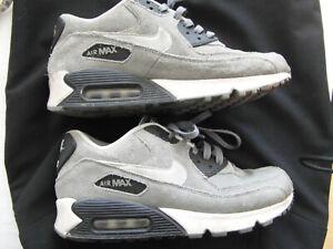 referir accesorios micro  Nike Air Max 90 40,5 41 grau weiß Wildleder Leder Schuh Sneaker   eBay