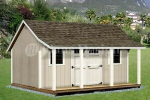 Image Is Loading 12 039 X 16 Shed With Porch