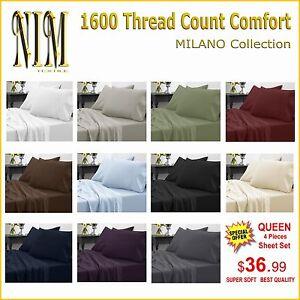 Luxurious-1600-TC-Softness-Deep-Pocket-3-or-4-pc-BED-SHEET-SET-DUVET-COVER-SET