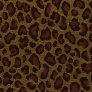 Designer Cheetah Burgundy Red Gold Jacquard Upholstery Fabric By