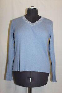 St-John-039-s-Bay-Long-Sleeve-Light-Blue-Blouse-Womens-Size-Large-100-Cotton