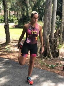 Triathlon-Cycling-Suit-Swim-Run-Womens-Medium