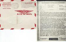 USA V-Mail -Air Mail Brief komplett mit kopiertem Text 11.03.1945, selten! #l413