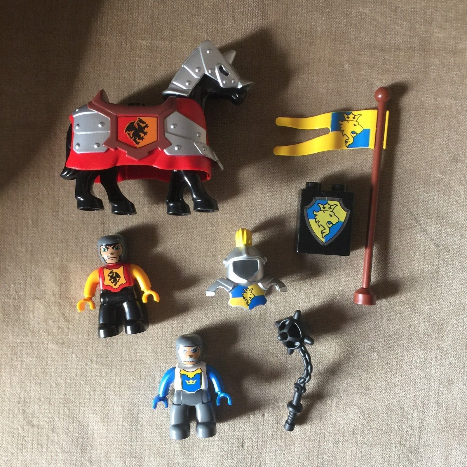 LEGO DUPLO Replacement Knights Castle Figures Horse Weapon