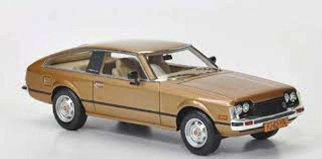 Toyota celica mkii a40 1978 gold metal neo 43262 1 43 gold reptile resin resin