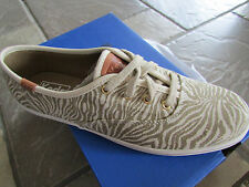 NEW KEDS ANIMAL NATURAL LACE UP SNEAKERS SHOES WOMENS 7.5 WF54921 FREE SHIP!