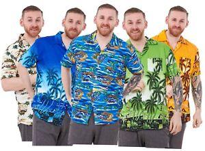 Men-s-Hawaiian-Camisetas-Multi-Colores-Impresas-Loose-Fit-Verano-Playa-Fancy-Dress