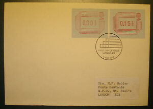 Set With 2 Fdc Ersttagsbrief Bequem Zu Kochen Great Britain 1984: Atm Variable Rate Stamps A