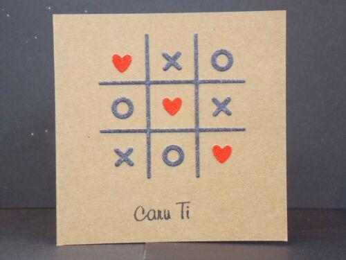 """Handmade zéros et Croix /""""Caru TI /'carte"""