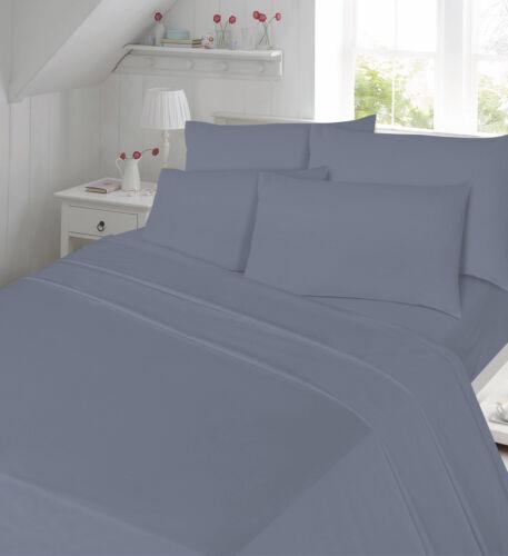 drap housse valance sheets toutes tailles taies d/'oreiller optn Percale qualité ajustée plat