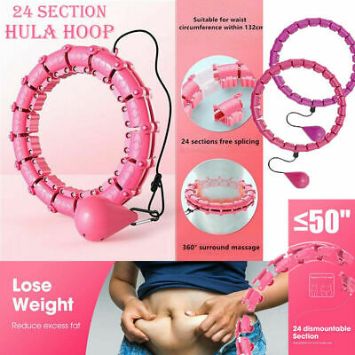 Smart Hula Hoop for Adults and Children Weight Loss and Fitness 24 Detachable and Adjustable Size for exercise,Weighted Exercise Circle with Auto Rotating Balls