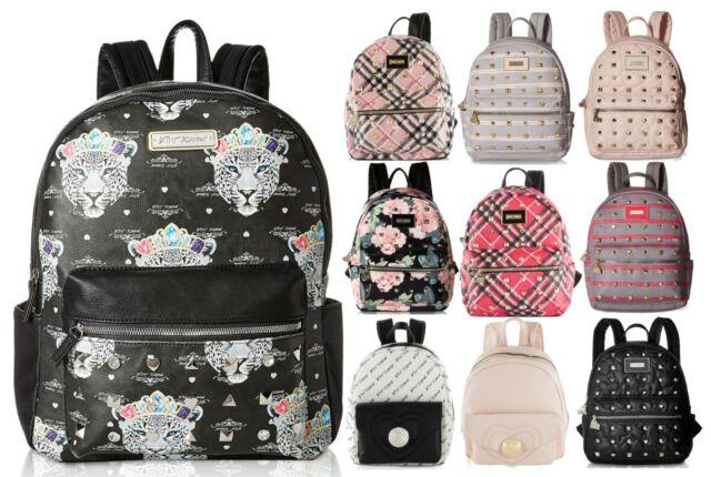 Betsey Johnson Kitsch Stud Medium Travel Luggage Backpack Purse Bookbag Tote Bag