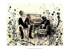 FANTASY ART PRINT Tom Waits Music at Piano with Cigarette unique 14x20 poster