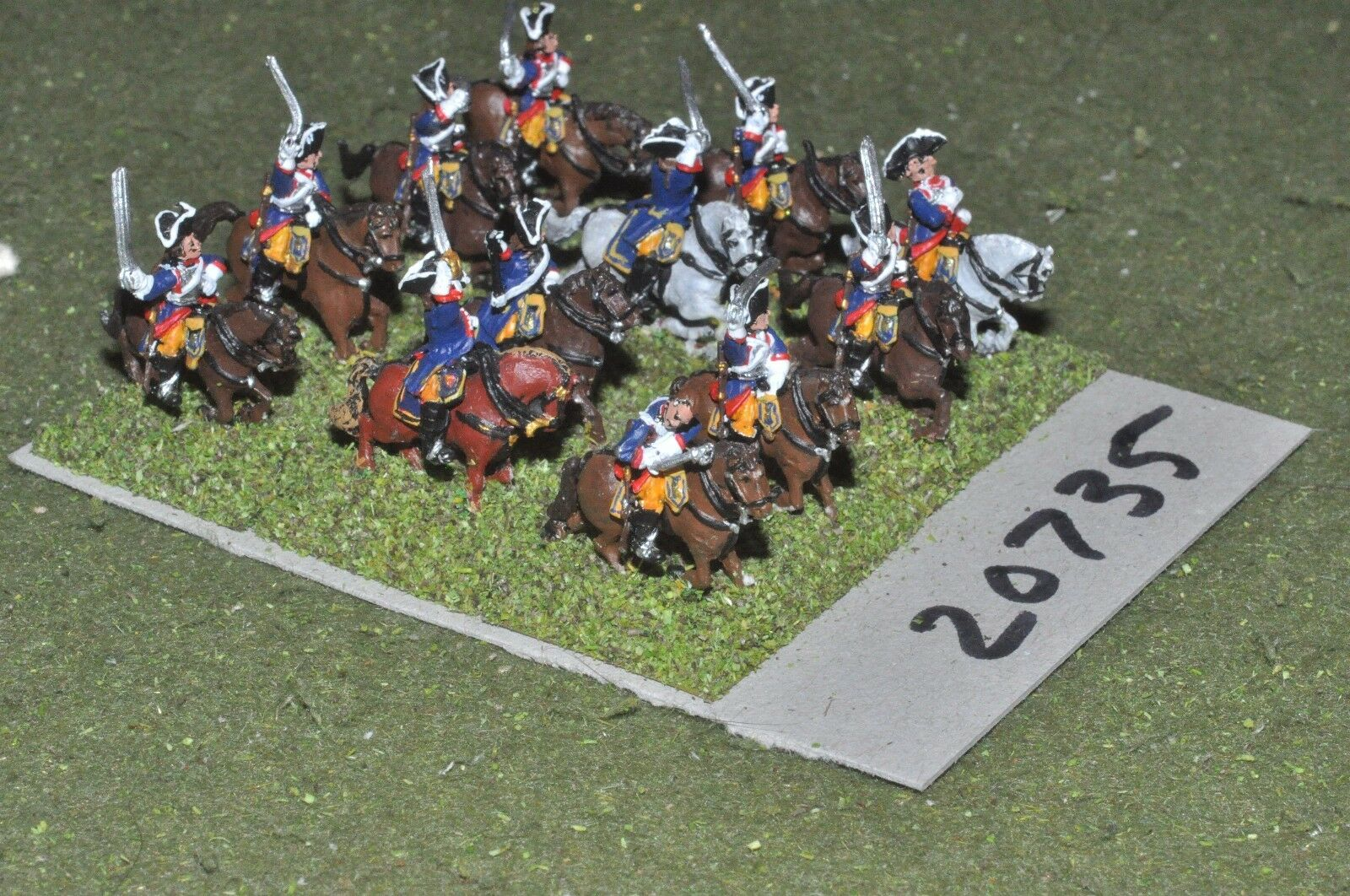 15mm 7YW   french - seven years war cavalry 12 cavalry  - cav (20735)