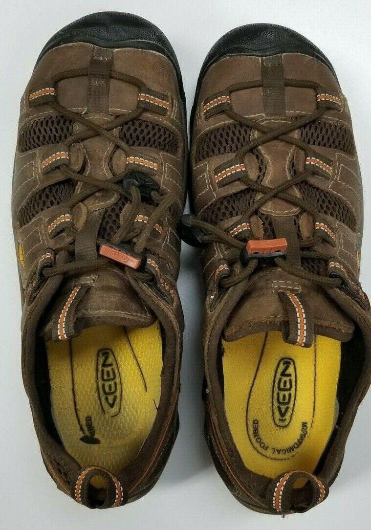 KEEN Utilidad Para hombres Zapatos Trabajo Atlanta Cool Puntera De Acero, nos Shitake, tamaño 8.5 D